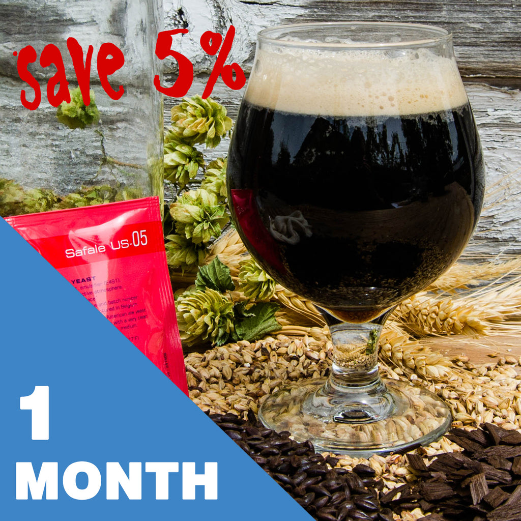 5 Gallon Beer Recipe Kit - 1 Month Subscription - FREE SHIPPING!