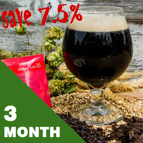 5 Gallon Beer Recipe Kit - 3 Month Subscription - FREE SHIPPING!