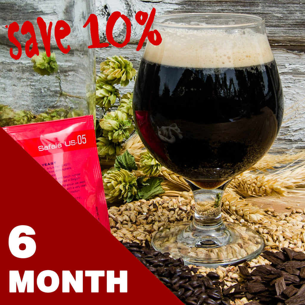 5 Gallon Beer Recipe Kit - 6 Month Subscription - FREE SHIPPING!