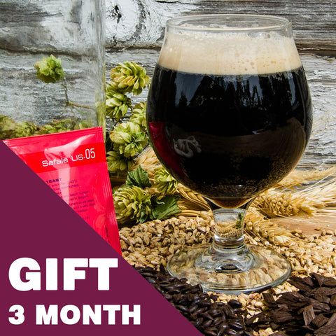 5 Gallon Beer Recipe Kit - 3 Month Gift