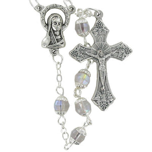 5MM Capped Crystal Bead Rosary