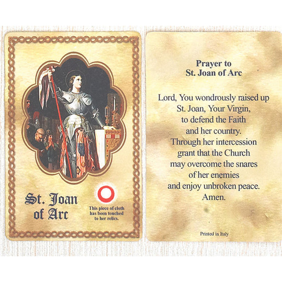 St. Joan of Arc Relic Card