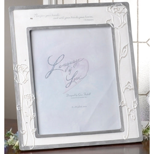 Language of Love Wedding Portrait Frame