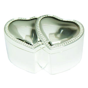 Double Heart Ring Box