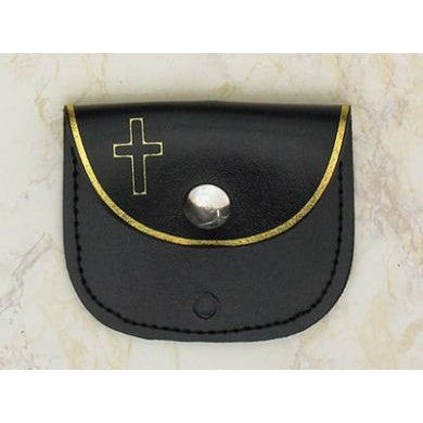 Black Snap Rosary Pouch