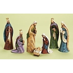 7 Piece Traditional Nativity Set