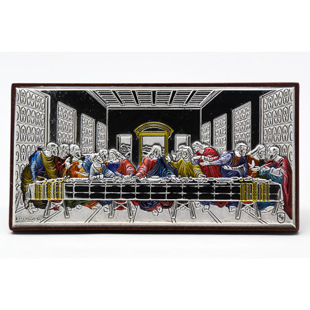 Colored Last Supper Plaque