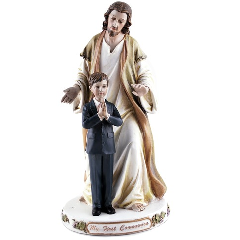 Jesus with First Communion Boy Statue