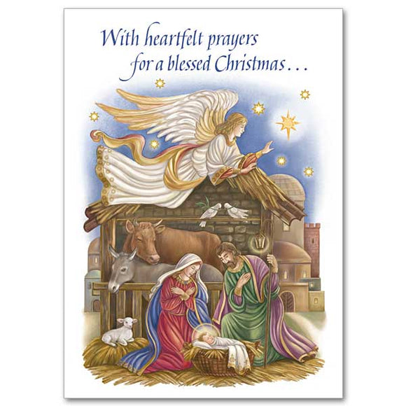 With Heartfelt Prayers for a Blessed Christmas Cards