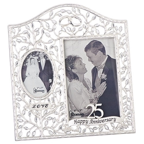 Then and Now 25th Wedding Anniversary Frame
