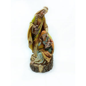 Carved Holy Family Figure