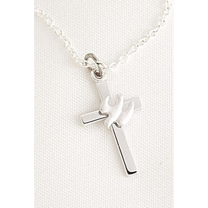 Cross with Dove Necklace