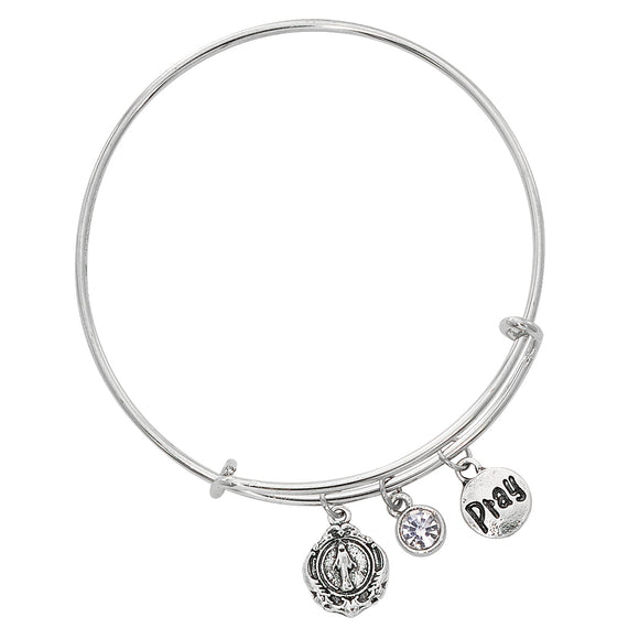 Miraculous Medal Bangle Bracelet