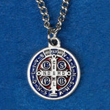 St. Benedict Enameled Medal Necklace
