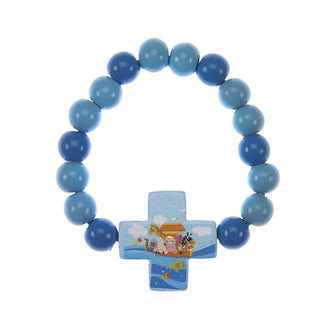 Blue Noah's Ark Stretch Bracelet