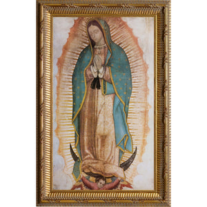 Our Lady of Guadalupe Print in Gold Frame