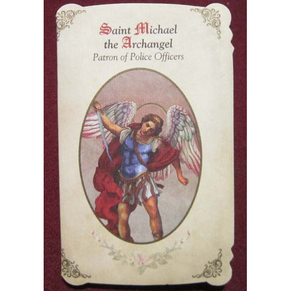 St. Michael the Archangel (Police Officers) Patron Saint Medal Holy Card