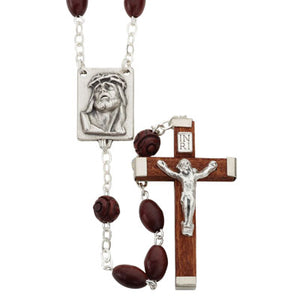 Brown Oval Bead Coco Rosary