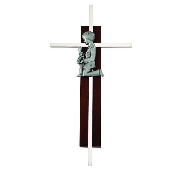 Dark Wood Communion Boy Cross