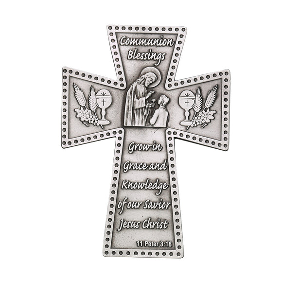 Communion Blessings Boy Pewter Cross