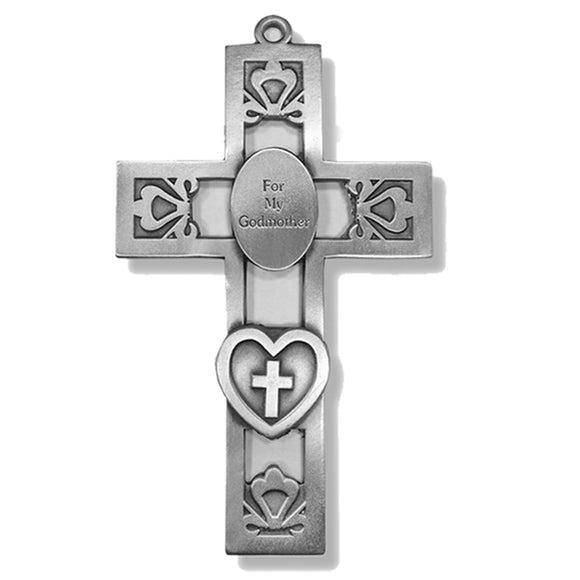 For My Godmother Pewter Cross
