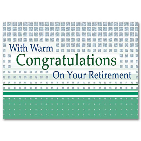 With Warm Congratulations on Your Retirement