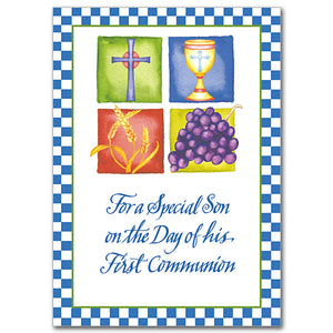 For a Special Son First Communion Card