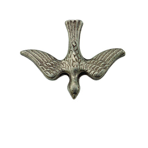 Solid Descending Dove Pewter Lapel Pin