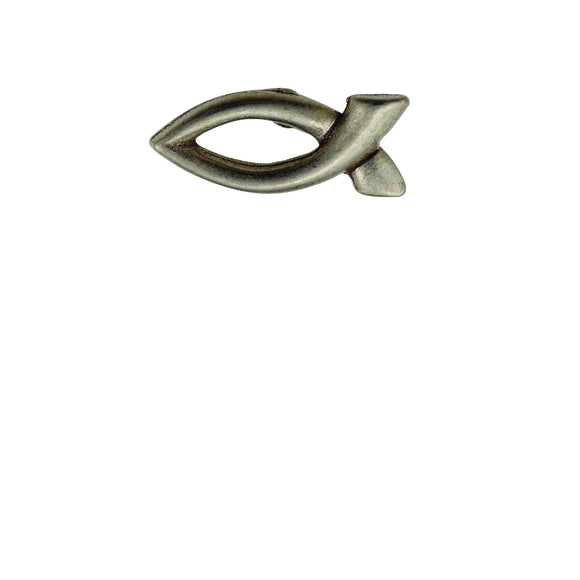 Fish Outline Pewter Lapel Pin