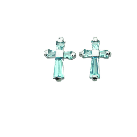 December Birthstone Post Earrings