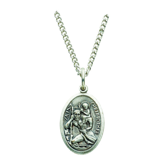 St. Christopher Oval Sterling Silver Medal