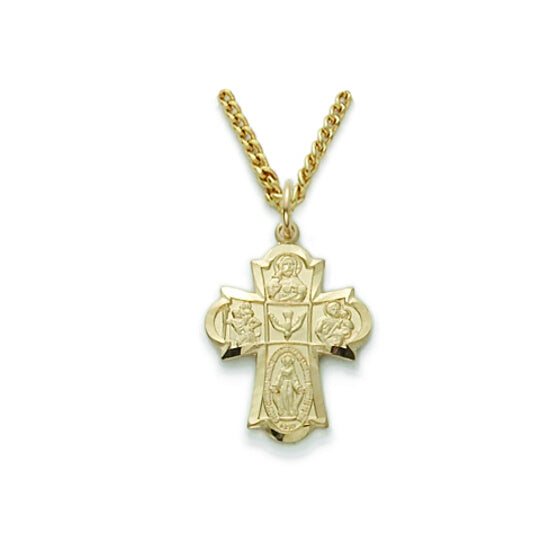 Gold Filled 4-Way Cross