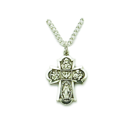 Sterling Silver Small Four Way Cross