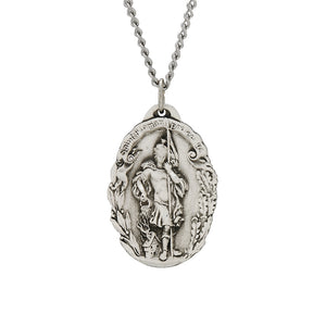 St. Florian Oval Sterling Silver Medal