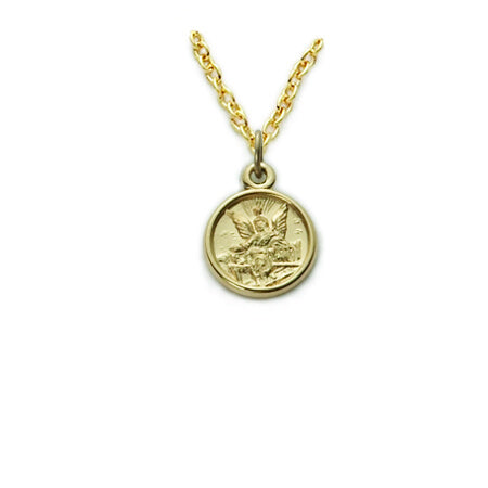Guardian Angel Baby Gold Filled Necklace with 13