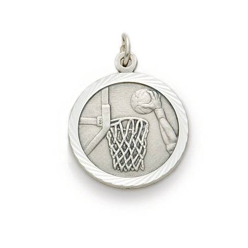 St. Christopher Nickel Silver Basketball Medal