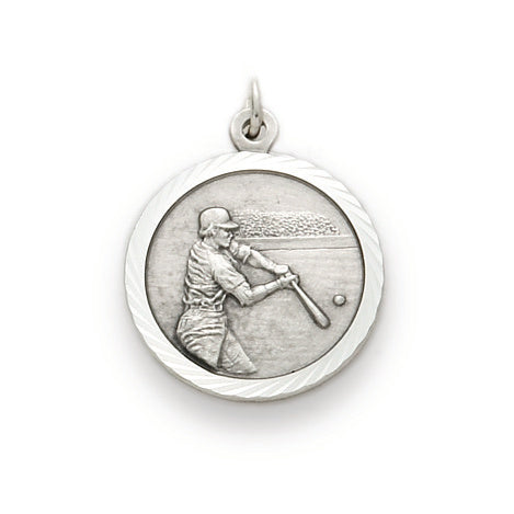St. Christopher Nickel Silver Baseball Medal