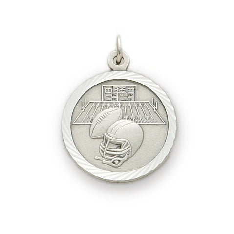 St. Christopher Nickel Silver Football Medal