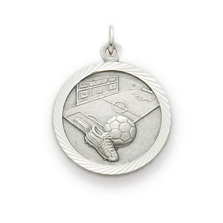 St. Christopher Nickel Silver Soccer Medal
