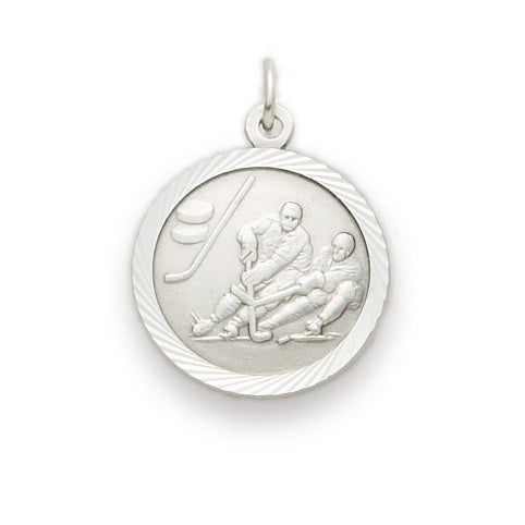 St. Christopher Nickel Silver Hockey Medal
