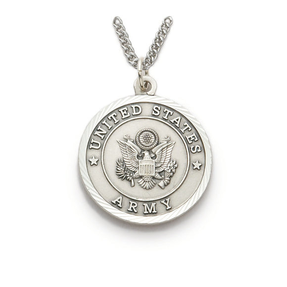St. Michael Nickel Silver Army Medal