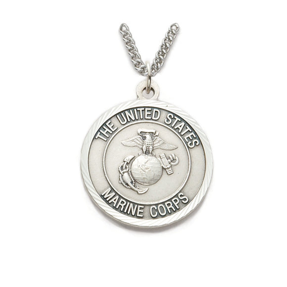 St. Michael Nickel Silver Marine Corps Medal