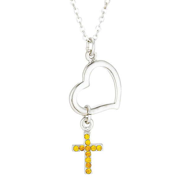 Heart Dangle Cross 18