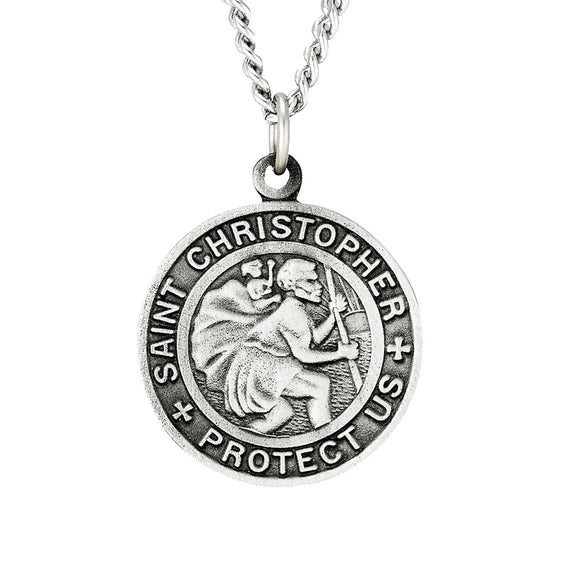 St. Christopher Pewter Medal with 24