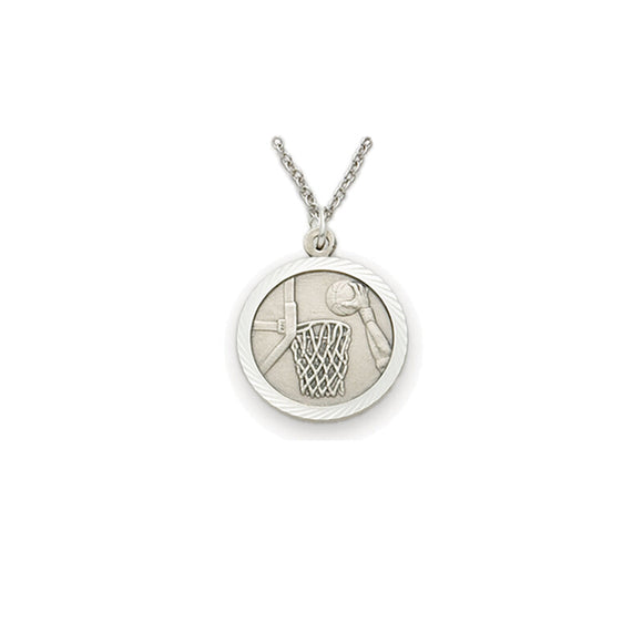 St. Christopher Pewter Basketball Medal