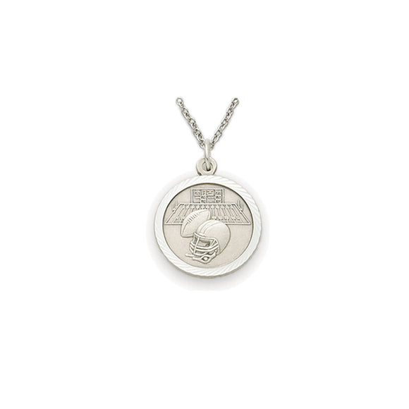 St. Christopher Pewter Football Medal