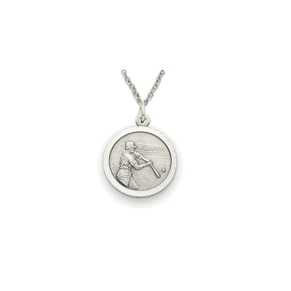 St. Christopher Pewter Baseball Medal