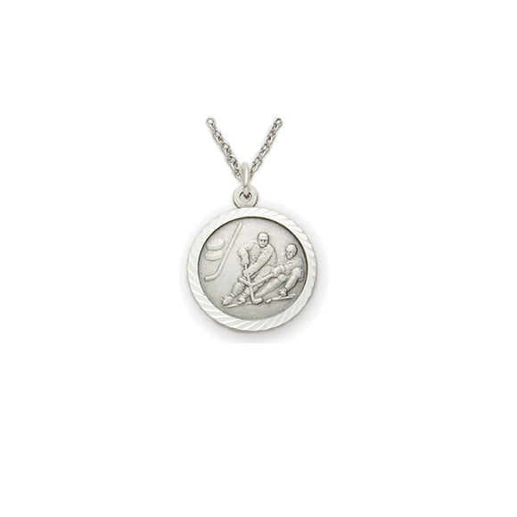 St. Christopher Pewter Hockey Medal