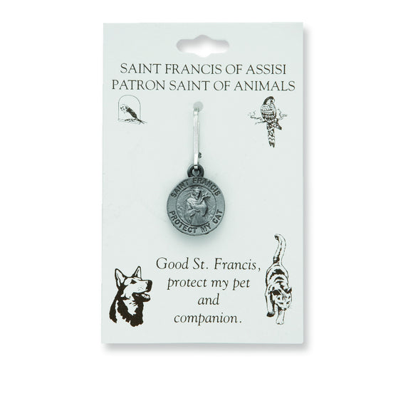 Small St. Francis Cat Medal