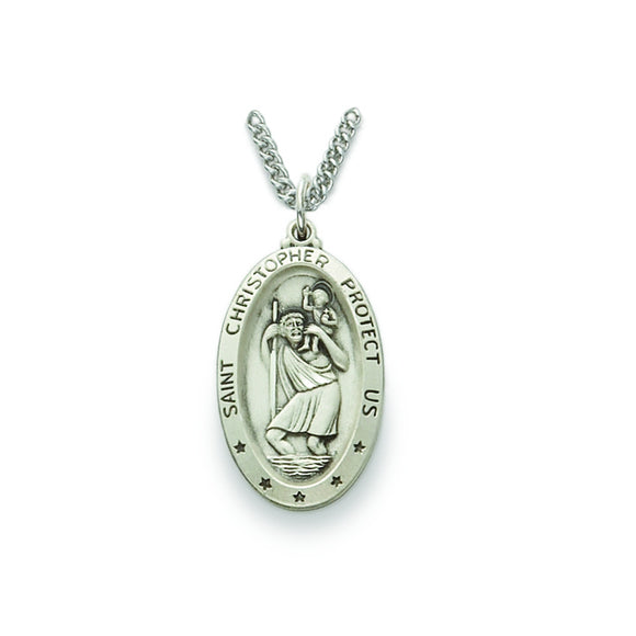 Large Oval St. Christopher Medal